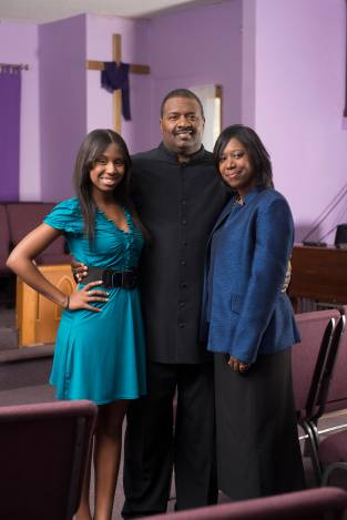 "Kenneth Coleman and his daughter Taylor of ""Preachers Daughter"" (working title) filming in Lockport, Illinois on October 21, 2012.  Photo by Scott Gries"